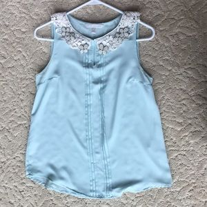 Mint and lace Lauren Conrad sleeveless top